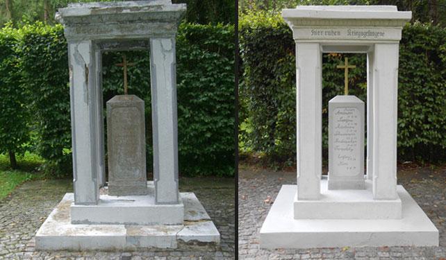 Steinmetz H. Wille - Restauration von Grabmälern