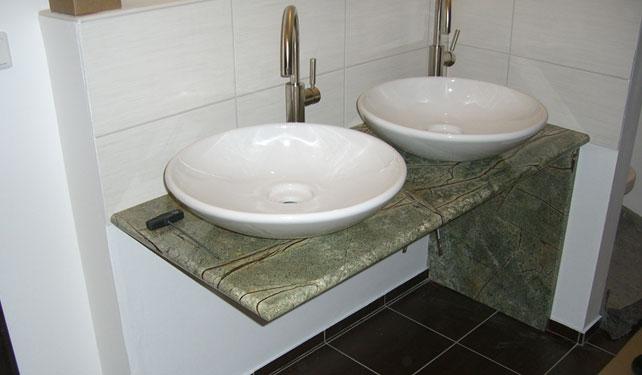 Steinmetz H. Wille Ausbau - Waschtische aus Naturstein